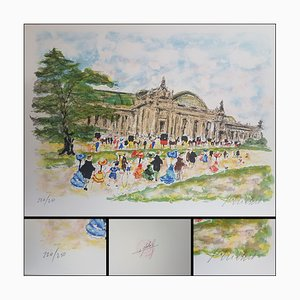 Urbain Huchet, Le grand Palais, Lithographs, Set of 2
