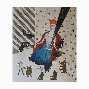 Lou Laurin-Lam, Les Douleurs De Frida, Radierung mit Bleistift signiert