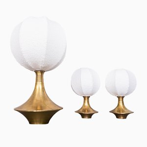 Brass Table Lamps from Lamperti, 1970s, Set of 3