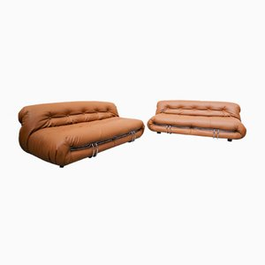Soriana Sofa by Tobia & Afra Shoe for Cassina, 1970s, Set of 2
