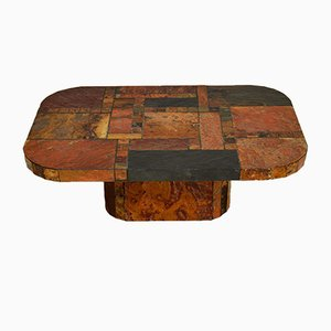 Large Vintage Swedish Stone Coffee Table