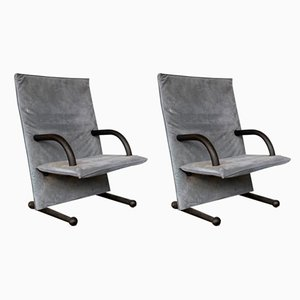 T-Line Armchairs by Burchard Vogtherr for Arflex, 1980s, Set of 2