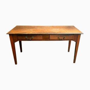 Table d'Appoint Antique en Chêne avec Tiroirs