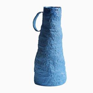 Vaso 08 della serie Blue Line in ceramica di Anna Demidova