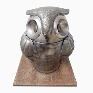 Mid-Century French Owl Ice Bucket
