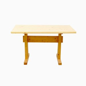 Pine Table by Charlotte Perriand for Les Arcs