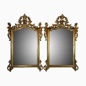 Specchi Luigi Filippo dorati, set di 2
