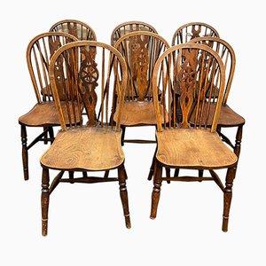 Chaises de Salon Harlequin Windsor Kitchen, Set de 8