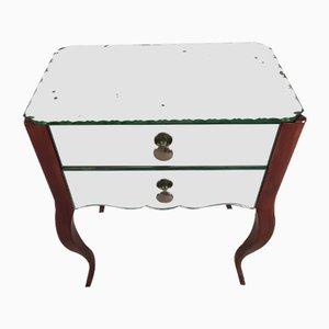 Verspiegelter Vintage Nachttisch