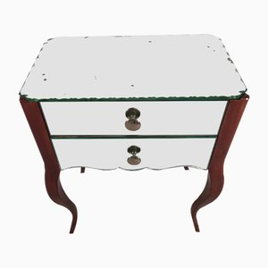 Vintage Mirrored Nightstand