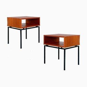 Mid-Century Teak Nachttische von Kuperus Furniture, 1960er, 2er Set