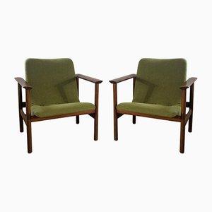 Scandinavian Modern Armchairs, Set of 2
