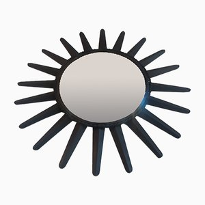 Black Metal Sun Mirror