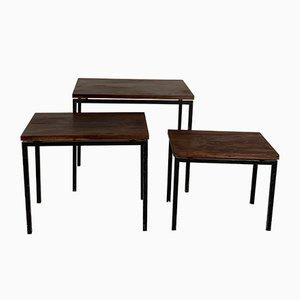 Tavolini ad incastro di Cees Braakman per Pastoe, anni '60, set di 3