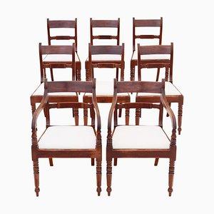 Chaises de Salon Regency en Acajou, Set de 8