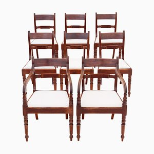 Regency Mahogany Dining Chairs, Set of 8