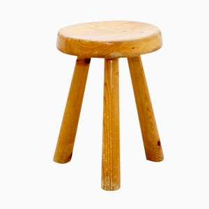 Pine Stool by Charlotte Perriand for Les Arcs