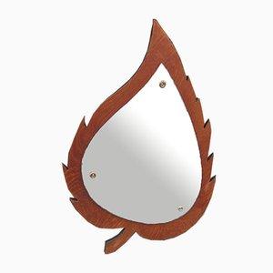 Danish Teak Mirror from AG Spejl Kobberbeskyttet, 1960s