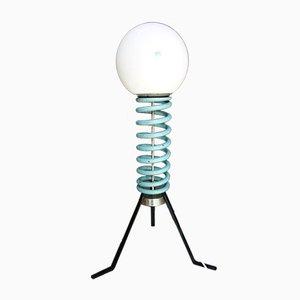 Dreifuß Stehlampe mit Schirm aus Glasschale