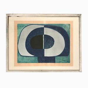 Anval Blue Lithograph, 1970s