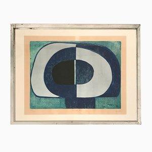 Lithographie Anval Bleue, 1970s