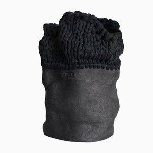 The Black Line Series Keramikvase 05 von Anna Demidova