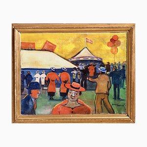 Danish Circus Painting by Jens Sorensen