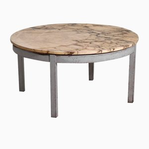 Gustavian Style Sofa Table with Marble Top, 20th Century