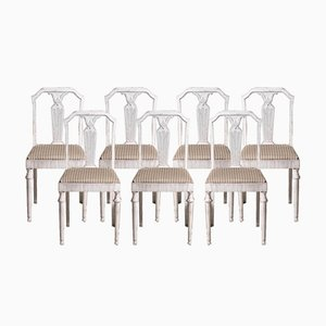 20th Century Gustavian Style Chairs, Set of 7