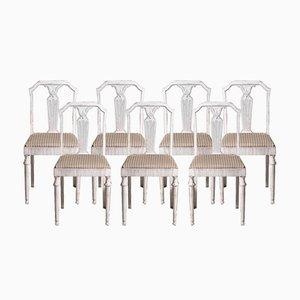 Chaises Style Gustavien, 20ème Siècle, Set de 7