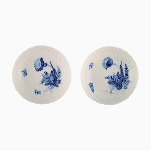 Model 10/1532 Blue Flower Curved Compotes from Royal Copenhagen, 1960s, Set of 2