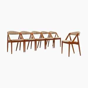 Model 31 Dining Chairs by Kai Kristiansen for Schou Andersen, 1960s, Set of 6