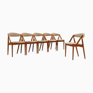 Sedie da pranzo modello 31 di Kai Kristiansen per Schou Andersen, anni '60, set di 6