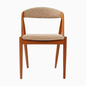 Sedia da pranzo modello 31 di Kai Kristiansen per Schou Andersen, anni '60