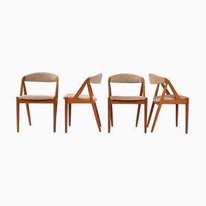 Sedie da pranzo modello 31 di Kai Kristiansen per Schou Andersen, anni '60, set di 4