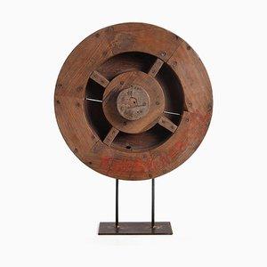 Base in legno con base in ferro