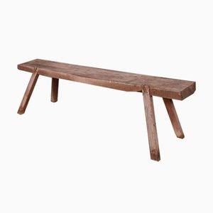 French Oak Trestle Bench