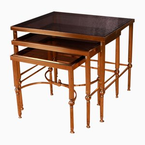 Brass and Glass Nesting Tables