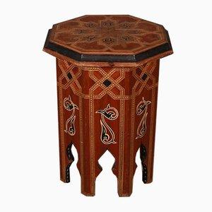 Tavolino intarsiato moresco