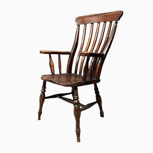Antique English Windsor Chair with High Back