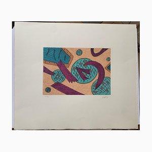 Henri Goetz, Orange and Blue, 1970s