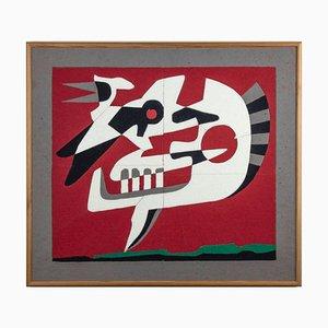 Leo Guida, Recall, Original Color Cloth on Plywood, 1997