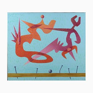 Leo Guida, Little Sky 3, Original Oil Painting on Canvas, 1985
