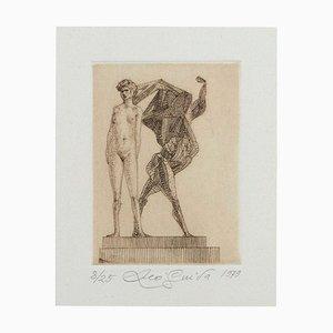 Leo Guida, Venus und Hercules, Original Radierung auf Papier, 1979