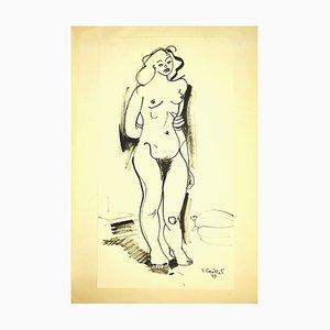 Tibor Gertler, Akt, Original China Tinte, 1947