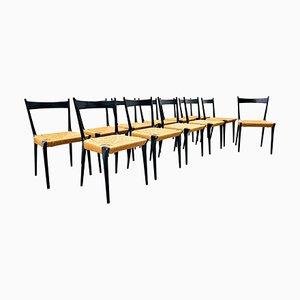 Esszimmerstühle von Alfred Hendrickx für Belform, Belgium, 1958, 12er Set