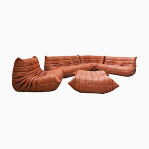 Leather Togo Sofa by Michel Ducaroy for Ligne Roset