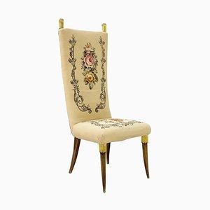 Chaise à Haut Dossier dans le Style de Paolo Buffa, 1950s
