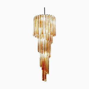 Spiral Murano Glass Chandelier from Venini