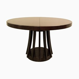 Extendable Dining Table in Mahogany by Angelo Mangiarotti for La Sorgente Dei Mobili